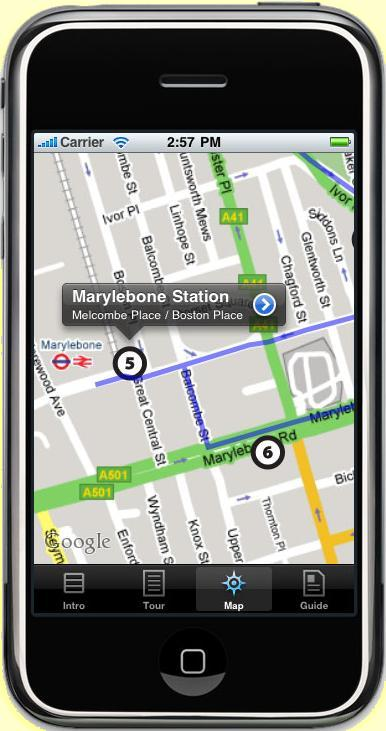 BeatlesWalkAppiPhone-MapDetail1